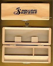 "Buy Rolling Supreme Small Wood Stash Box Cigarette Rolling Paper Tray Case 6"" x 2"""
