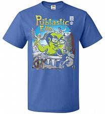 Buy Pubtastic Five Unisex T-Shirt Pop Culture Graphic Tee (S/Royal) Humor Funny Nerdy Gee