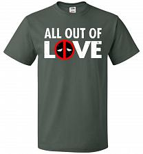 Buy All Out Of Love Unisex T-Shirt Pop Culture Graphic Tee (3XL/Forest Green) Humor Funny