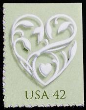 Buy 2008 42c Wedding Hearts, Special Issue Scott 4271 Mint F/VF NH