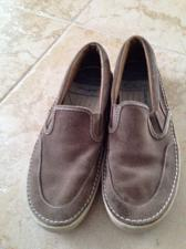 Buy men's suede slip on sperry topsiders shoes size 10