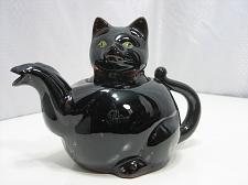 Buy Redware Black Cat Tea Pot Shafford Handpainted Japan Vintage 1950's