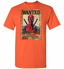Buy Deadpool Wanted Poster Unisex T-Shirt Pop Culture Graphic Tee (4XL/Orange) Humor Funn