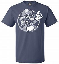 Buy Go Save The Princess Unisex T-Shirt Pop Culture Graphic Tee (6XL/Denim) Humor Funny N