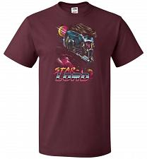 Buy Retro Star Lord Unisex T-Shirt Pop Culture Graphic Tee (M/Maroon) Humor Funny Nerdy G