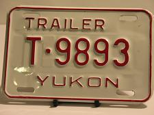 Buy Yukon License Plate Trailer T 9893 New Truck Car New Old Stock NOS