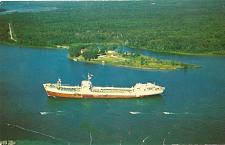 Buy SAULT STE MARIE OCEAN FREIGHTER POSTCARD ONTARIO CANADA Boat Ship