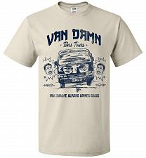 Buy Van Damn Tour Bus Adult Unisex T-Shirt Pop Culture Graphic Tee (L/Natural) Humor Funn