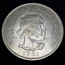 Buy 1961(I) Uruguay 10 Pesos World Silver Coin