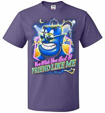 Buy Friend Like Me Adult Unisex T-Shirt Pop Culture Graphic Tee (3XL/Purple) Humor Funny