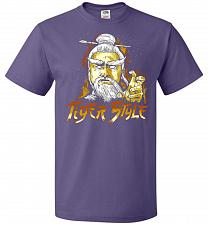 Buy Tiger Style Unisex T-Shirt Pop Culture Graphic Tee (6XL/Purple) Humor Funny Nerdy Gee