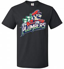 Buy Plumbers Unisex T-Shirt Pop Culture Graphic Tee (2XL/Black) Humor Funny Nerdy Geeky S