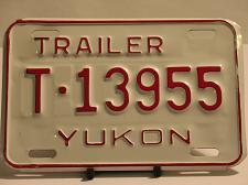 Buy Yukon License Plate Trailer T 13955 New Old Stock Vintage NOS