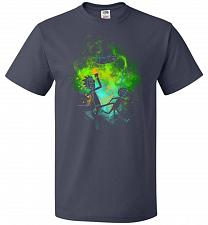 Buy Rick Morty Art Unisex T-Shirt Pop Culture Graphic Tee (5XL/J Navy) Humor Funny Nerdy