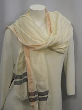 Buy SCARF 80X29 Ivory Pink Gray Striped Wrap Shawl Stole Women All Occasions
