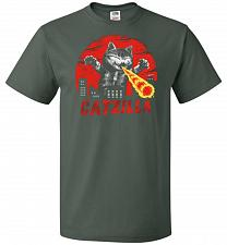 Buy Catzilla Unisex T-Shirt Pop Culture Graphic Tee (XL/Forest Green) Humor Funny Nerdy G
