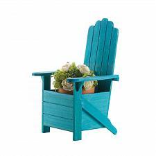 Buy *18256U - Blue Fir Wood Adirondack Chair Planter