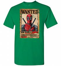 Buy Deadpool Wanted Poster Unisex T-Shirt Pop Culture Graphic Tee (3XL/Turf Green) Humor