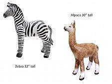 Buy 2pcs Inflatable zebra & Alpaca animals zoo party toy cute Jet Creations Inc