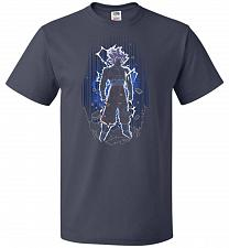 Buy Shadow Of The Ultra Instinct Unisex T-Shirt Pop Culture Graphic Tee (4XL/J Navy) Humo