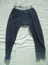 Buy Blue Thermal Long Johns 100% Cotton 3-4 Years Old Boys