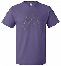 Buy Darth Smoke Unisex T-Shirt Pop Culture Graphic Tee (2XL/Purple) Humor Funny Nerdy Gee