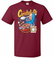 Buy Cornholios Unisex T-Shirt Pop Culture Graphic Tee (5XL/Cardinal) Humor Funny Nerdy Ge