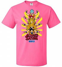 Buy Altered Saiyan Unisex T-Shirt Pop Culture Graphic Tee (S/Neon Pink) Humor Funny Nerdy
