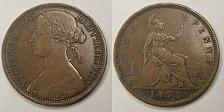 Buy 1873 Great Britain One Penny World Coin - UK - England - Victoria
