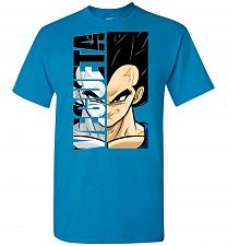 Buy Vegeta Unisex T-Shirt Pop Culture Graphic Tee (4XL/Sapphire) Humor Funny Nerdy Geeky