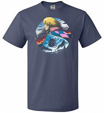 Buy In The Midst Of War Castle Unisex T-Shirt Pop Culture Graphic Tee (L/Denim) Humor Fun