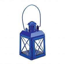 Buy *15853U - Mini Railway Crisscross Candle Lamp Lantern Blue