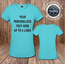 Buy Custom Personalized T shirt Ladies V-neck T-Shirt or Blank