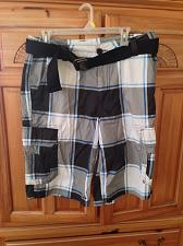 Buy mens plaid shorts belted size 34 by Surplus