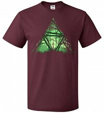 Buy Treeforce Unisex T-Shirt Pop Culture Graphic Tee (3XL/Maroon) Humor Funny Nerdy Geeky