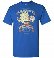 Buy Crazy Rick's Schwifty Ale Unisex T-Shirt Pop Culture Graphic Tee (M/Royal) Humor Funn