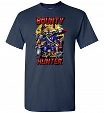 Buy Bounty Hunter Rocket Raccoon Unisex T-Shirt Pop Culture Graphic Tee (S/Navy) Humor Fu