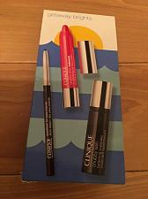 Buy Clinique Getaway Brights 3 Piece Set Eyeliner, Mascara, Chubby Stick Lip Color
