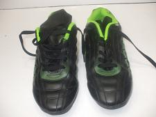Buy Kids Athletic Works size 5 Black Leather Outdoor Soccer Shoes Unisex Alan B