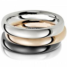 Buy coi Jewelry Titanium Dome Wedding Band Ring - JT2751(Size:US7.5)