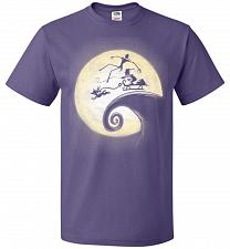 Buy Nightmare Before Grinchmas Unisex T-Shirt Pop Culture Graphic Tee (5XL/Purple) Humor