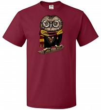 Buy Owly Potter Unisex T-Shirt Pop Culture Graphic Tee (4XL/Cardinal) Humor Funny Nerdy G