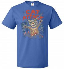 Buy Cat Attack Unisex T-Shirt Pop Culture Graphic Tee (S/Royal) Humor Funny Nerdy Geeky S