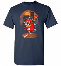Buy Flash Minion Unisex T-Shirt Pop Culture Graphic Tee (L/Navy) Humor Funny Nerdy Geeky