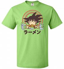 Buy Saiyan Ramen Unisex T-Shirt Pop Culture Graphic Tee (6XL/Kiwi) Humor Funny Nerdy Geek