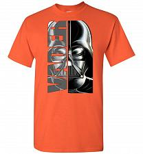 Buy Vader Unisex T-Shirt Pop Culture Graphic Tee (XL/Orange) Humor Funny Nerdy Geeky Shir