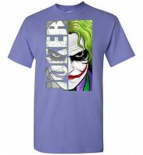Buy Joker Unisex T-Shirt Pop Culture Graphic Tee (M/Violet) Humor Funny Nerdy Geeky Shirt