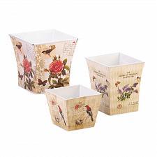 Buy 15179U - Botanical Illustration Garden Planter Pots Set of 3