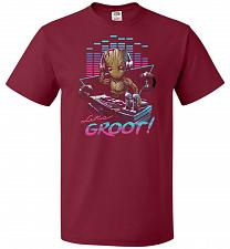 Buy Dj Groot Unisex T-Shirt Pop Culture Graphic Tee (M/Cardinal) Humor Funny Nerdy Geeky