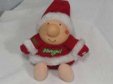 Buy Vintage ZIGGY Doll Plush Toy I Love You Christmas Santa Kiss Collectible
